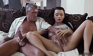 Cock on touching the horny superannuated mom and sky pilot friend'_s little one office xxx What