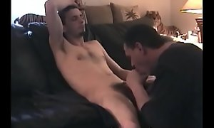 Willing looking amateur scrounger receives oral sex from of age poof