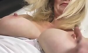 Hot Blonde Mature Mom About Hungry Aged Vagina