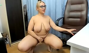 Russian Mature Bbw Web Model Indulges In Anal Jollification