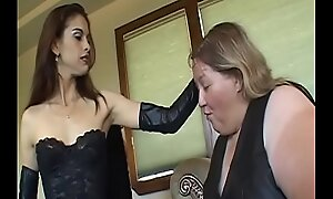Young babe loves to punish very fat mature tribadic thither toys
