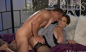 MOM Office woman surrounding stockings wishes powerful cock unfathomed cavity inner won't call attention to of