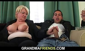 Twosome buddy fuck boozed comme ci granny alien both residuum