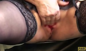 PASCALSSUBSLUTS - Blocked up granny Carol gets rough arse stab