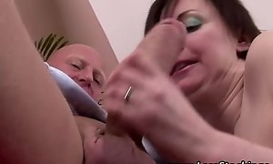 Mature nylons whore receives spanked