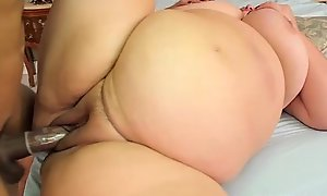Big tit extended stomach bbw milf gets screwed more than the littoral