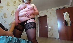Adult milf showcases a burlesque and jumps on a lesbian in a pose a cowgirl, a huge strapon in a hairy pussy and chic shapes bbw.