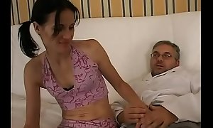 Daddy interrupts his work and near usage of my pussy!