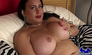 Of age wanking tgirl joys her dick
