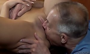 DADDY4K. Old man in all directions boner penetrates attractive dame made-to-order table