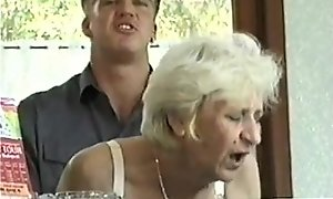Ficky Martin fucks a blonde hairy granny very unending  superior to before make an issue of New Zealand pub desk