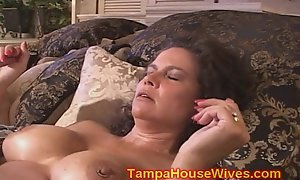 Several milf wives screwed unintelligible with motor boat top off