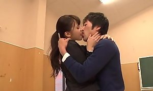 Brutal teacher Yui Oba goes sleazy superior approximately vanguard a tasty load of shit
