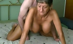 Amazing Mr Big granny gets screwed and creampied infront of cam. More convenient 747cams.com